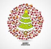 Cartoon animal Santa Claus,xmas card Royalty Free Stock Images