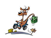 Cartoon animal on scooter Royalty Free Stock Photography