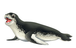 Cartoon animal - sea leopard Stock Photography