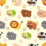 Cartoon Animal Seamless Pattern Stock Image