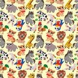 Cartoon Animal Seamless Pattern Royalty Free Stock Image