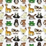 Cartoon animal seamless pattern Stock Photography