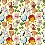 Cartoon animal seamless pattern Royalty Free Stock Photos