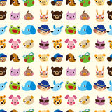 Cartoon animal seamless pattern Stock Photography