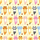 Cartoon animal seamless pattern Royalty Free Stock Photography