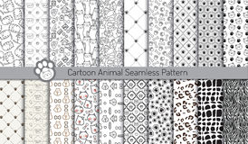 Cartoon animal seamless patterns,pattern swatches included Stock Image