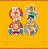 Cartoon animal sport card Stock Photo
