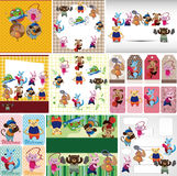 Cartoon animal sport card Royalty Free Stock Images