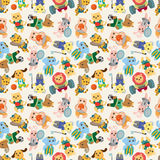 Cartoon animal sport player seamless pattern Royalty Free Stock Photography