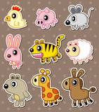 Cartoon animal stickers Stock Photo