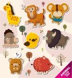 Cartoon animal Stickers icons. Vector,illustration