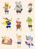 Cartoon animal student Stock Photos