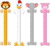 Cartoon animal wall meter Royalty Free Stock Photography