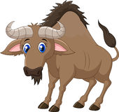 Cartoon animal wildebeest Stock Photos