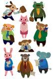 Cartoon animal worker icon Royalty Free Stock Photos