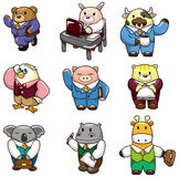Cartoon animal worker icon Stock Images