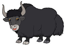 Cartoon animal - yak - illustration for the children Stock Photos