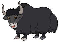 Cartoon animal - yak - illustration for the children stock illustration