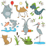 Cartoon animals Stock Photography