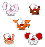 Cartoon animals Stock Image