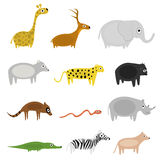 Cartoon animals Royalty Free Stock Image