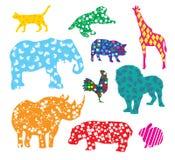 Cartoon animals Royalty Free Stock Image