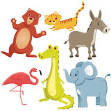 Cartoon animals Stock Image
