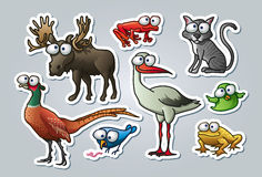 Cartoon animals Royalty Free Stock Photography
