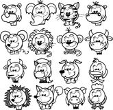 Cartoon  animals,vector Stock Images