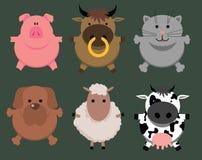 Cartoon animals. This vetor cartoon toy animals Royalty Free Stock Photos