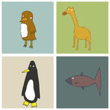 Cartoon Animals Royalty Free Stock Photo