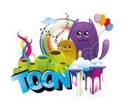 Cartoon animals abstract  Royalty Free Stock Photos