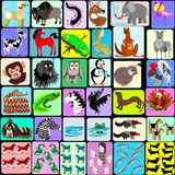 Cartoon animals of the alphabet Stock Image