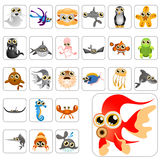 Cartoon animals big set. Big set of cartoon animals vector Stock Image