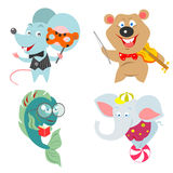 Cartoon animals character set Stock Photography