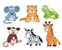 Cartoon animals collection Royalty Free Stock Image