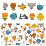 Cartoon animals collection Royalty Free Stock Photos