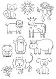 Cartoon Animals Coloring Book Royalty Free Stock Photography