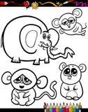 Cartoon Animals for Coloring Book Stock Photos
