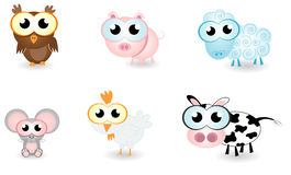 Cartoon animals farm. Vector illustration of cartoon animals farm Stock Images
