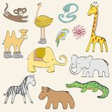 Cartoon animals Stock Images