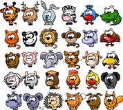 Cartoon animals,vector Royalty Free Stock Photography