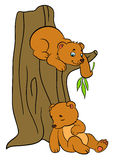 Cartoon animals for kids. Little cute baby bears. Cartoon animals for kids. Two little cute baby bears Stock Images