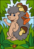 Cartoon animals for kids. Little cute hedgehog. vector illustration