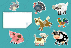 Cartoon animals - label - illustration for the children Royalty Free Stock Photos
