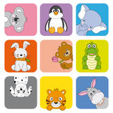 Cartoon animals and pets Royalty Free Stock Photography