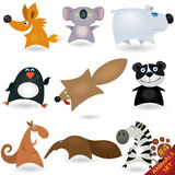 Cartoon animals set #4 Stock Images