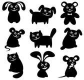 Cartoon animals set. Cartoon happy animals set  isolated on a white background Stock Photography