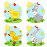 Cartoon animals set Stock Photo