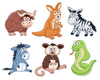Cartoon animals set Royalty Free Stock Image